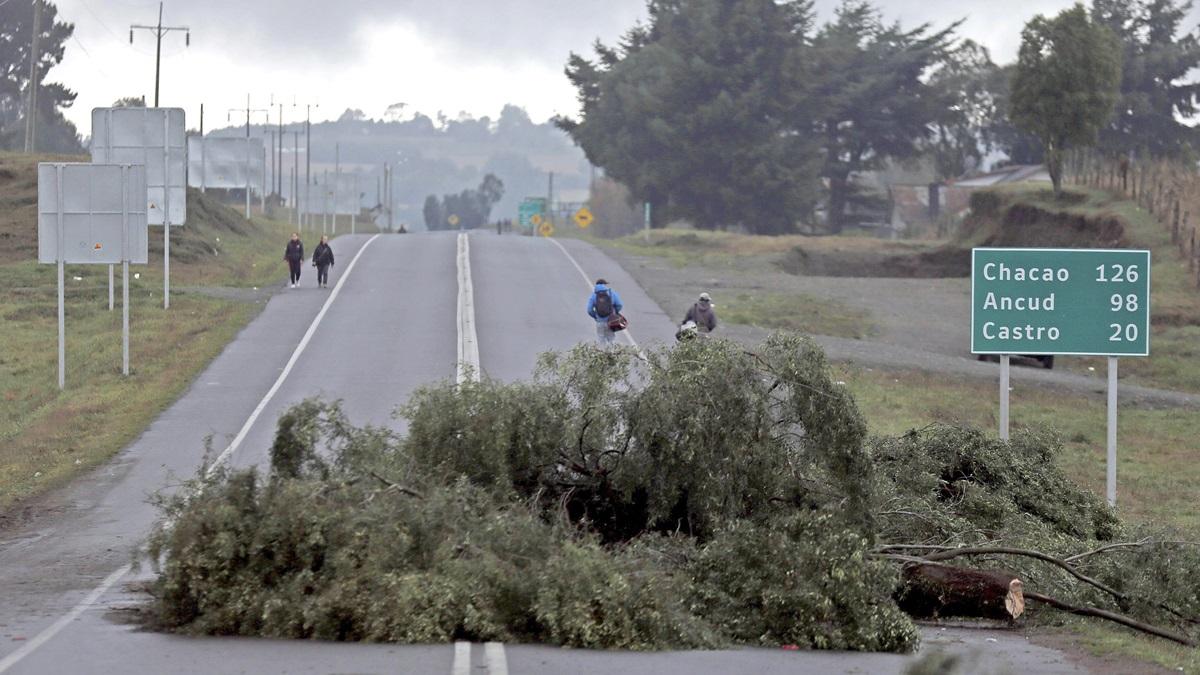 Continúan las protestas en Chiloé