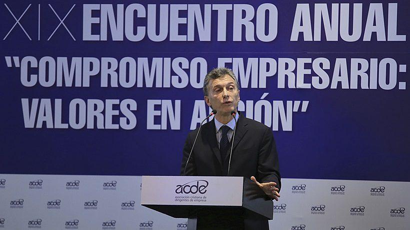 Mauricio Macri en el XIX Encuentro Anual de la Asociación Cristiana de Dirigentes de Empresas