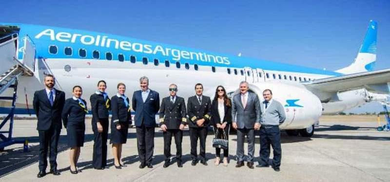 Aerolíneas Argentinas presentó en Jujuy su nuevo avión