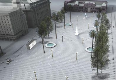 Está en marcha una polémica remodelación de la histórica Plaza de Mayo