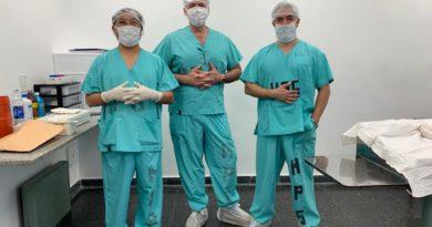 Primera cirugía en el hospital Gallardo